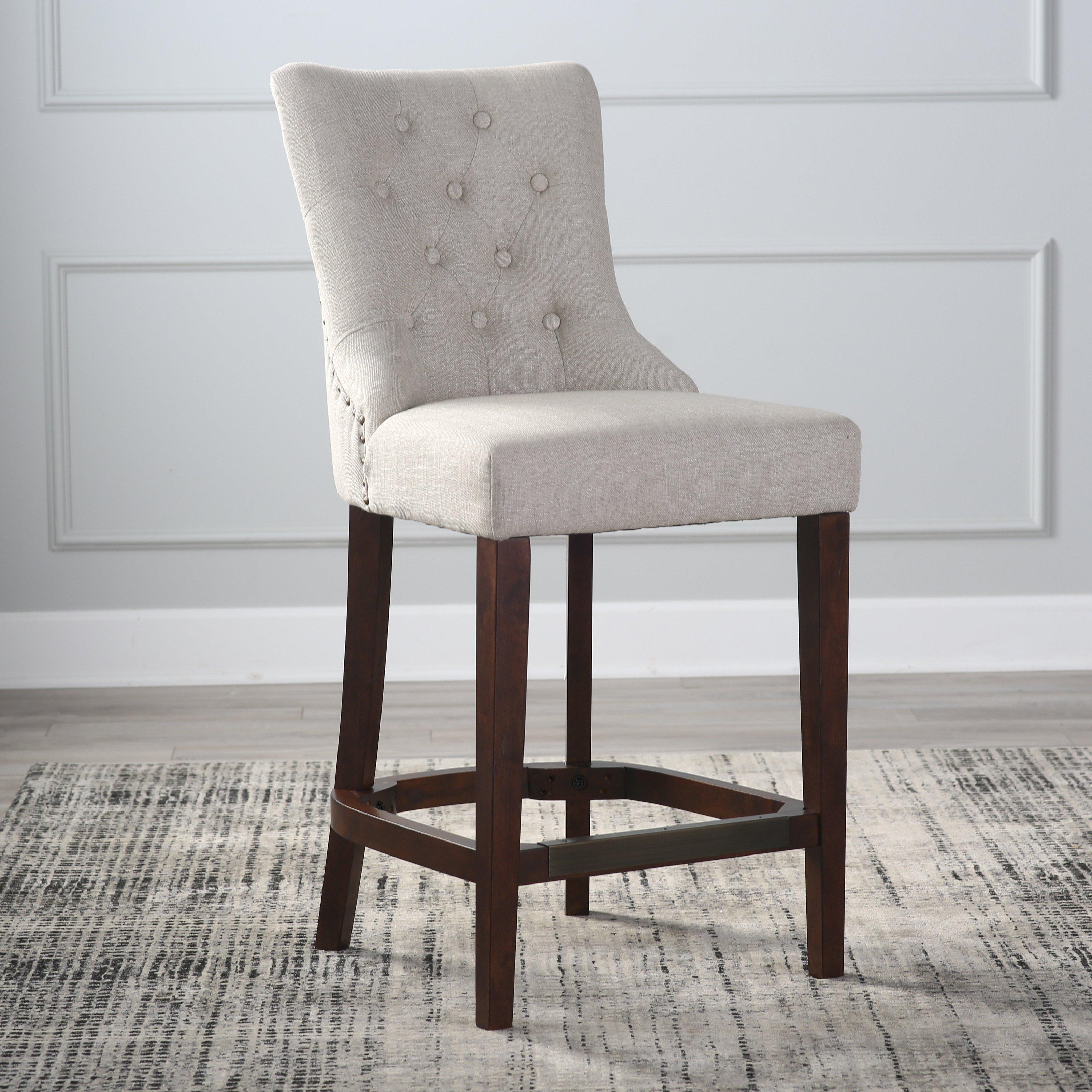 table stool belham living thomas tufted tweed table stool    Hayneedle HJZDVVF