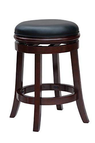 Bar stool boraam 44224 Bar stool without backrest, 24 inches, cherry YVOFDEQ