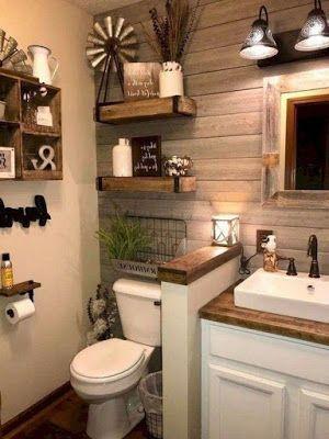 19 Cottage Bathroom Rustic Farmhouse Decor    ARA HOUSE.