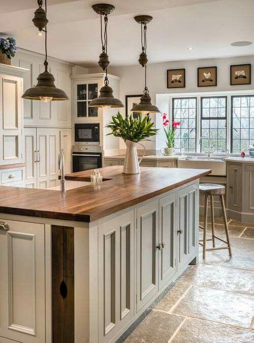 Modern country kitchen |  Country kitchen design, country kitchen