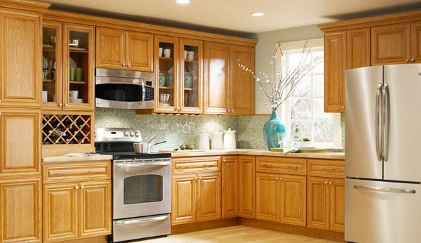 Country house kitchen cabinets made of oak BXEYVFC