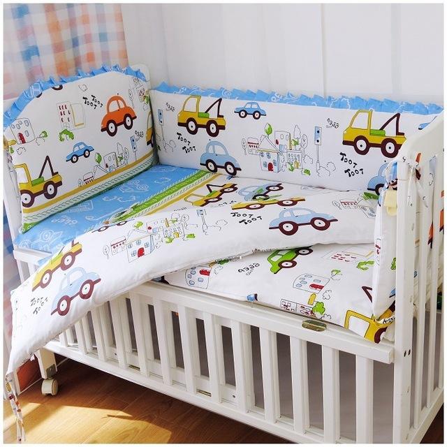 Cot bedding 6pcs car cot bumper crib bedding sets kidsu0027s bedclothes cotton crib ROIBXTZ
