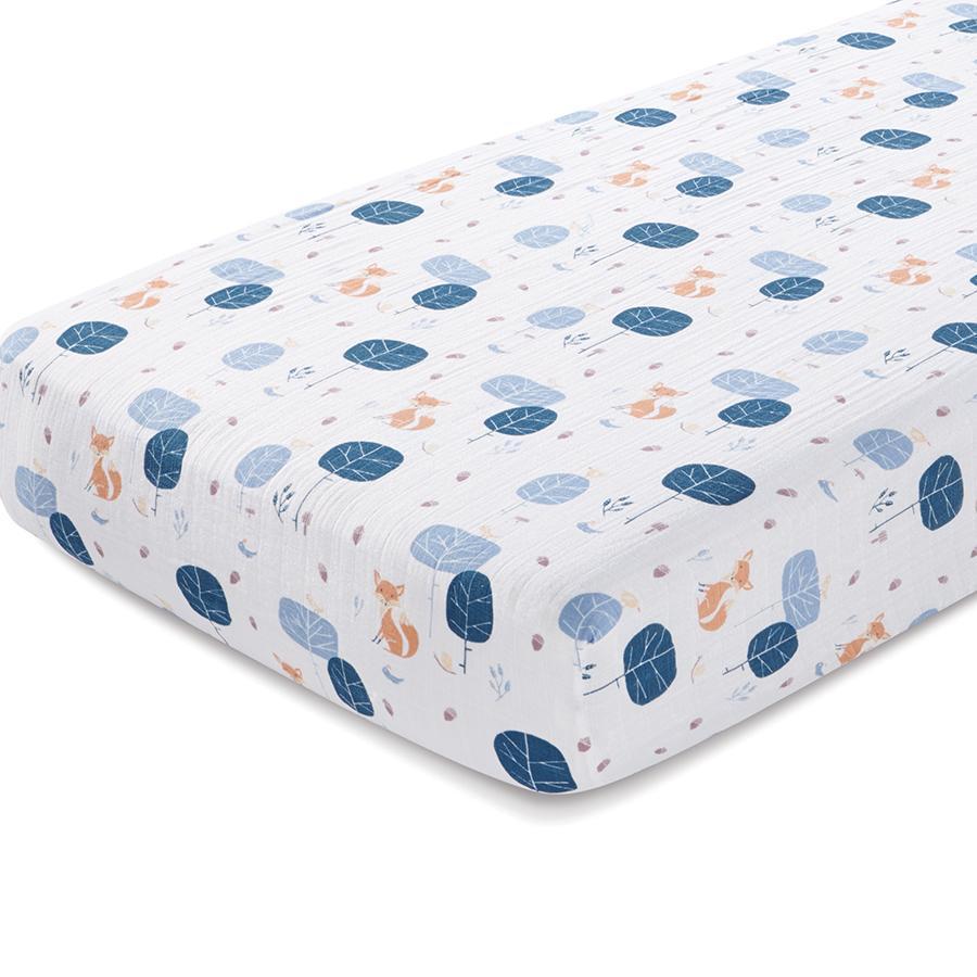 Children's bed sheet aden + anais in the woods organic cotton bed sheet VTQKHAU