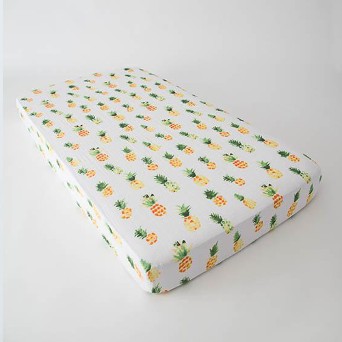 Fitted sheet muslin fitted sheet, pineapple ... TMJMHCB