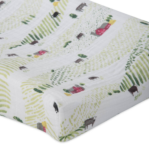 Fitted sheet muslin fitted sheet, rolling hills AOCDYOV