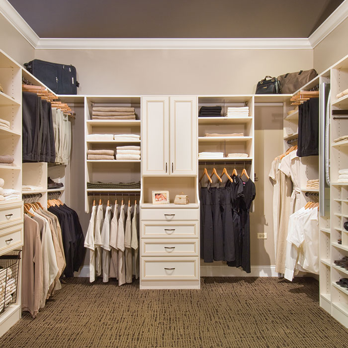 Custom closet systems for bedrooms