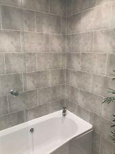 Cutline gray tile look bathroom wall panels pvc shower wet wall cladding NAYCZJO