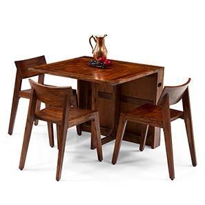 Danton 3-to-6 - Gordon 3-Seater Folding Dining Table Set (Teak SOWFSPO