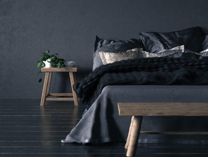 Dark bedroom ideas: how to decorate with dark colors    runrug.c