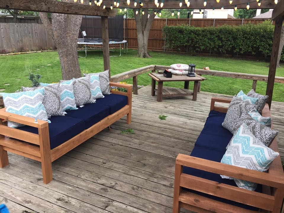 Terrace furniture ana white |  2x4 outdoor sofas - DIY projects KUJCXDY