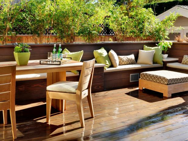 Terrace furniture modern terrace with integrated benches TBBLXCJ