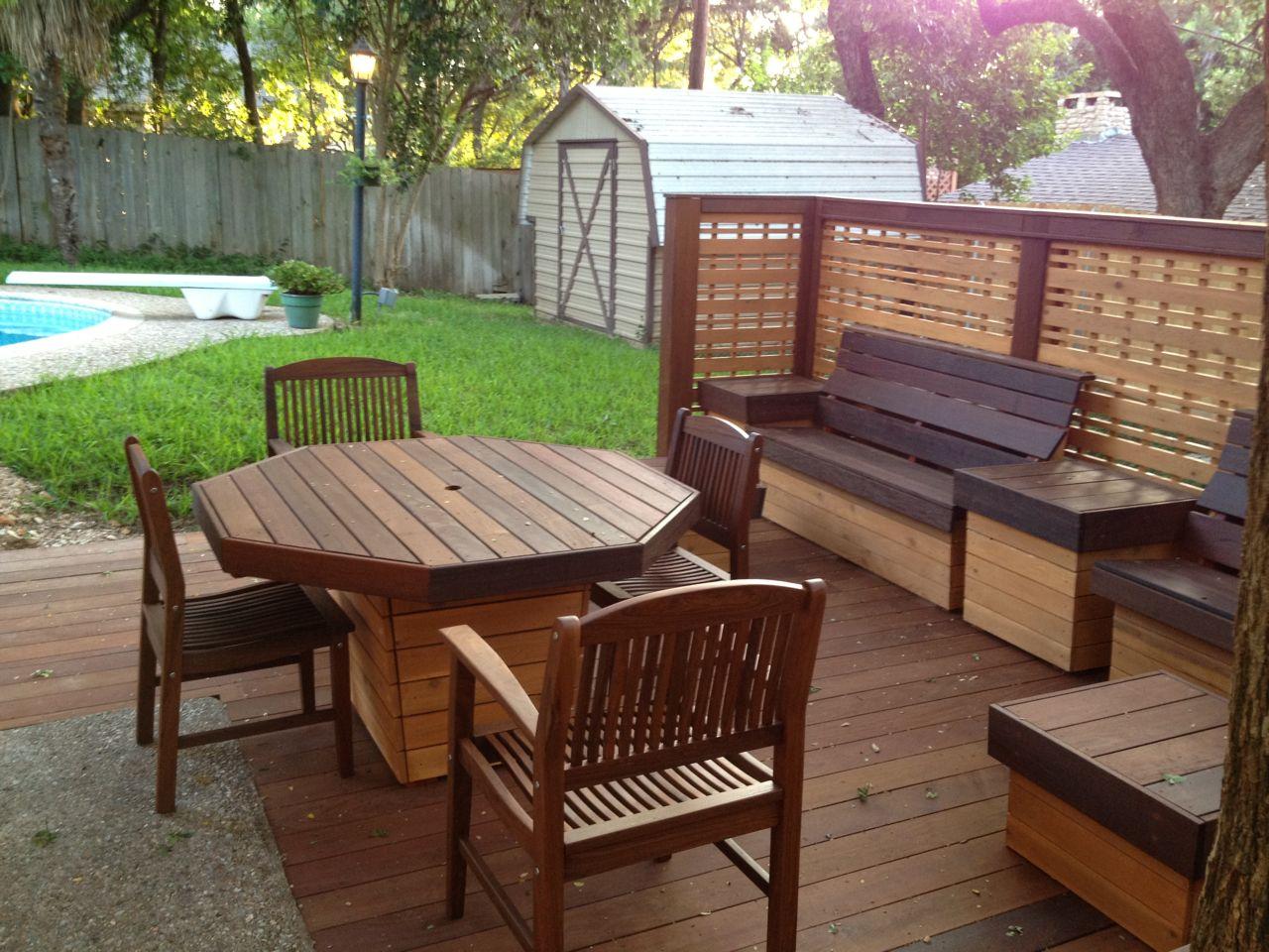 Deck Furniture Pictures / Deck Möbel-2 / Octogon -installed-2.250 RMHVOUS