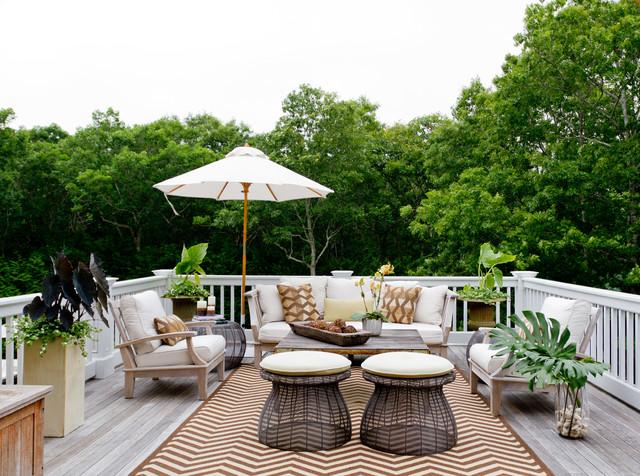 deck furniture my houzz: iris dankner beach-style deck WKIBMWU