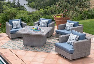 Patio Furniture Outdoor Fireplaces & Chat Sets EWTRGBQ