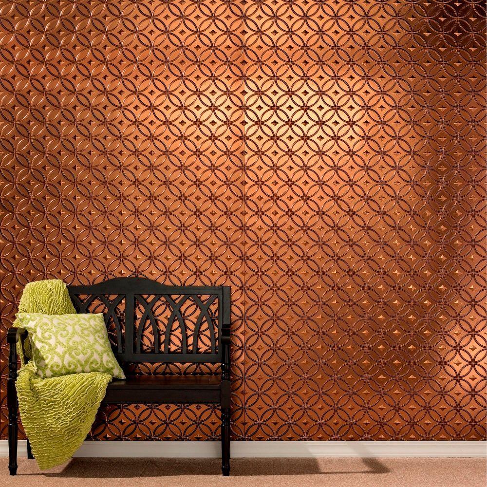 decorative wall panels decorative wall panel in copper-colored fantasy ACKIOJY