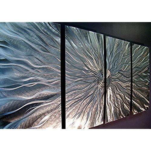 decorative wall panels Statements2000 silver metal wall art, abstract metal wall hanging - modern QZMDYYK