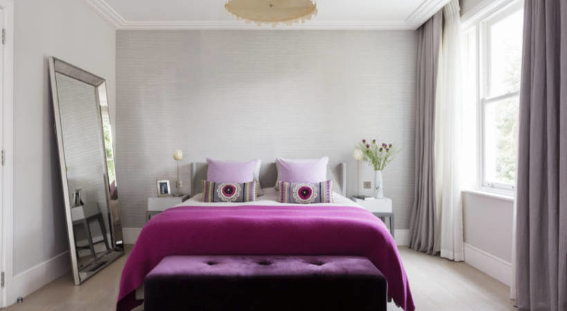 Design bedrooms with color: shop for plum and wine decoration ideas for a cozy VCNDIGB