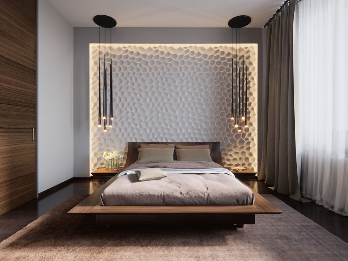 Design bedroom stunning lighting brings floating effect AOFXMJF