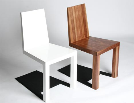 Design furniture optical illusion furniture: creepy shadow chair design QUXYJLQ