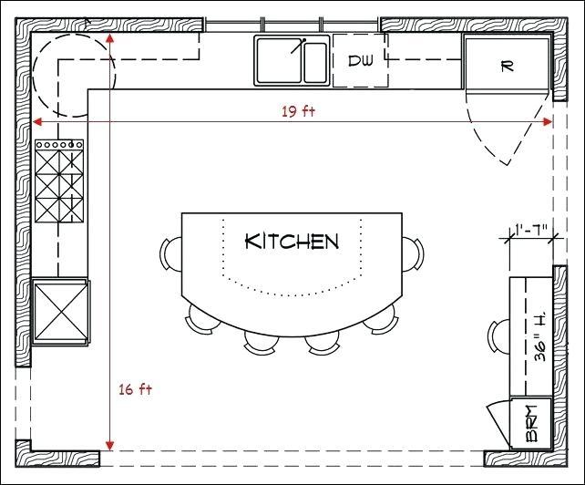 Design kitchen floor plans Kitchen floor plans new L-shaped design WDEVTUC