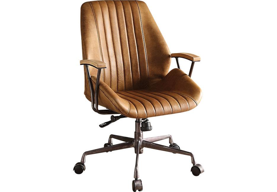 Desk chairs Ernst tan desk chair - office chairs (beige) WMMRAPY