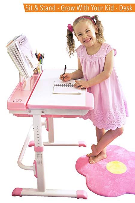 Desk for your child einstein children's desk set    Height-adjustable children's workstation, grows with CXIOYFT