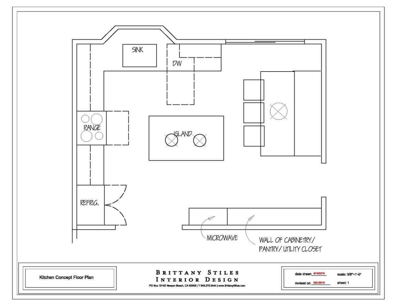 detailed review of all kitchen floor plans.  schematic plan of the l PBPRIJW