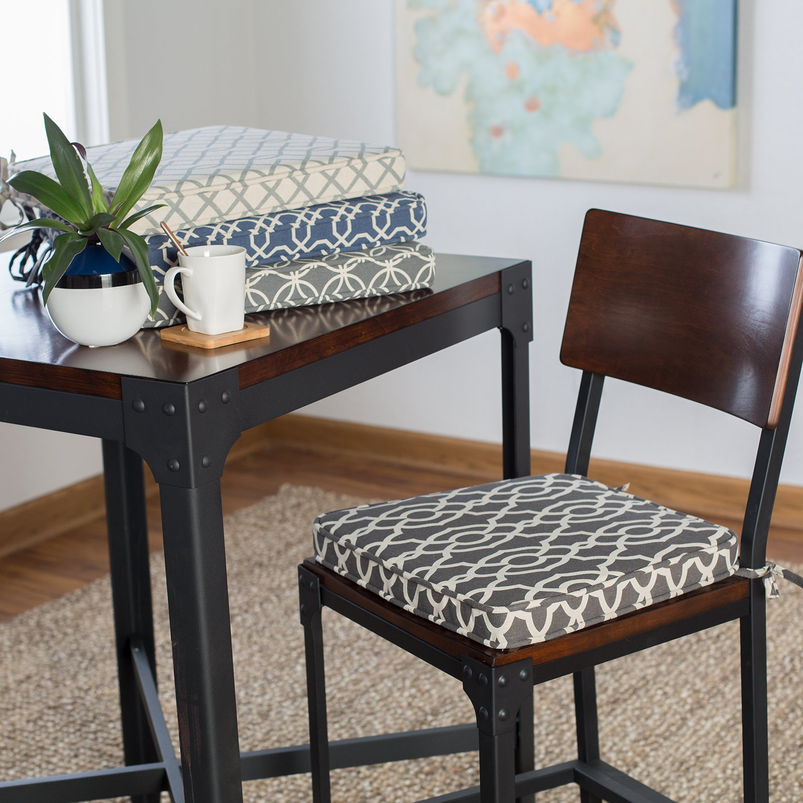 Dining room chair cushion Belham Living printed indoor dining room chair cushion |  Hayneedle QPWLQUT