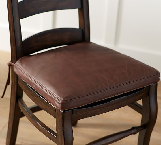 Dining room chair cushion pb classic dining room chair cushion made of leather UBLOTOK