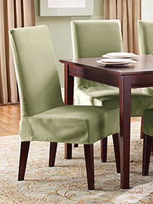 Dining Room Chair Covers Dining Room Chair Covers Cotton Duck Shorty Dining Chair Covers yhxtssi YBRAVVH