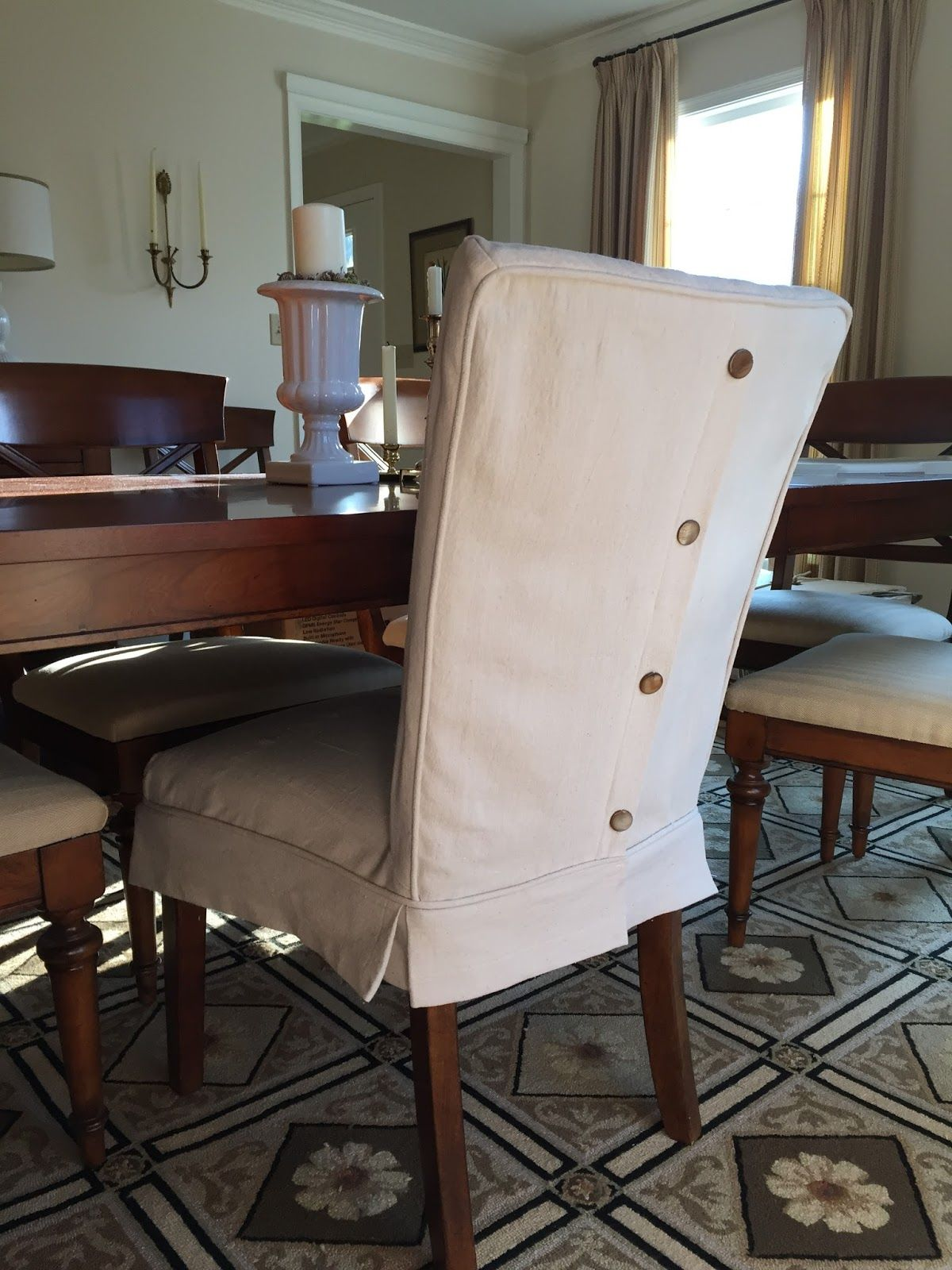 Dining room chair covers Dropcloth slip covers for leather Parsons chairs JWYRQLJ