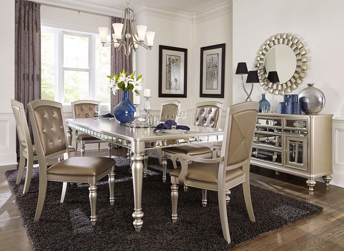 Dining room furniture sets Arsenia mirrored dining room furniture set VGEGBIW