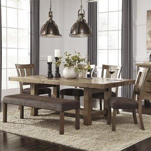 Dining room furniture sets etolin 6-piece extendable dining room set FHICRHJ