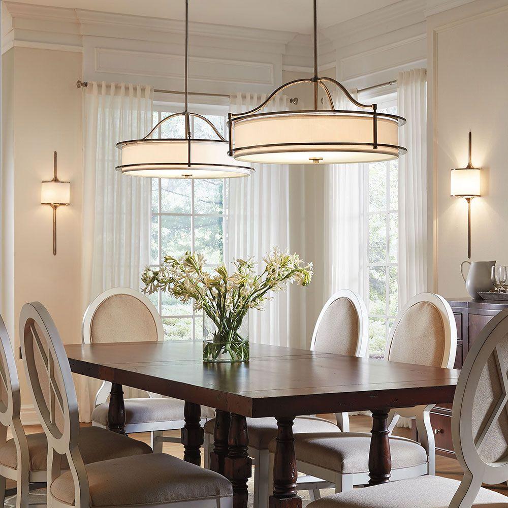 Dining room lighting.  emory collection emory 3-lamp pendant / semi-flush - DSZSKVD