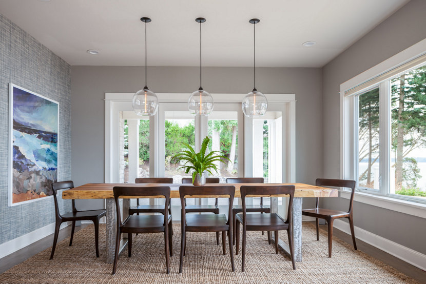 Dining room lighting Island interior with pendant lights for dining room in the trend from houzz RELFYEC