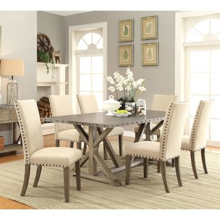 Dining room placemats Athens 7-piece dining table set RORTLJQ