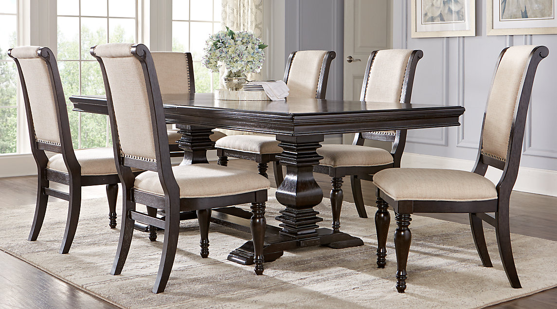 Dining room table sets Dining room table and chair sets Westerleigh oak 5-piece rectangular dining room JNXDJXR