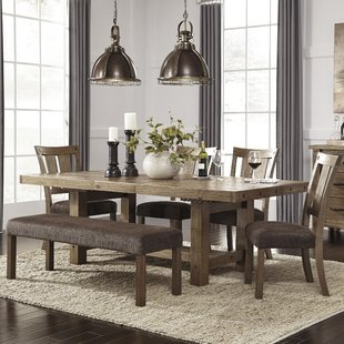 Dining room table sets etolin 6-piece extendable dining table set IDLEATR