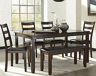 Dining room table sets ... large coviar dining room table and chairs with bench (set by LPFOMDM