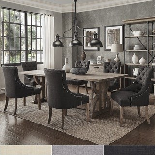 Dining room placemats Paloma Salvaged Reclaimed Pine 7-piece rectangular dining room set by inspire YMFABHJ