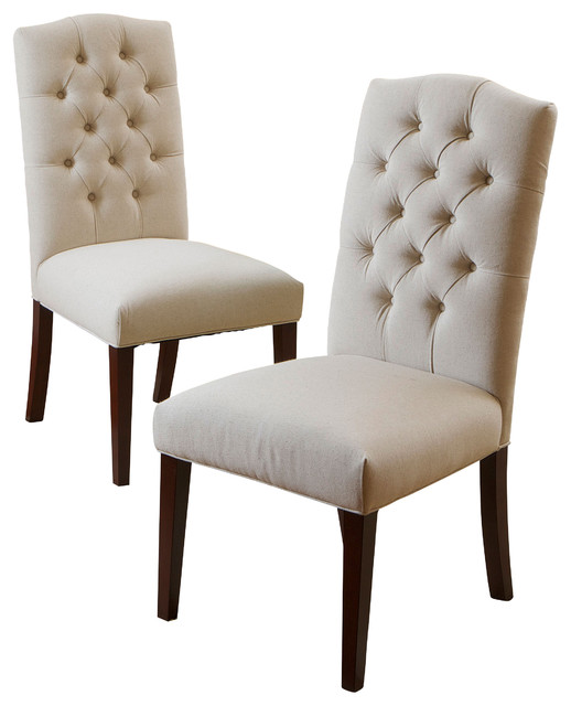 Dining room chairs Clark dining room chairs, set of 2, natural linen LXKIZOA