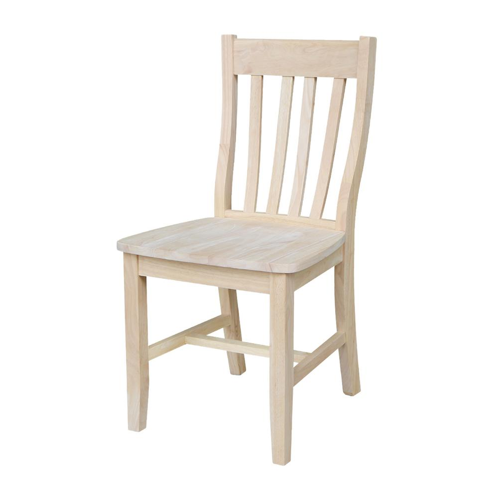 Dining room chairs international concepts Dining chair made of untreated wood (set of 2) UJMVUUZ