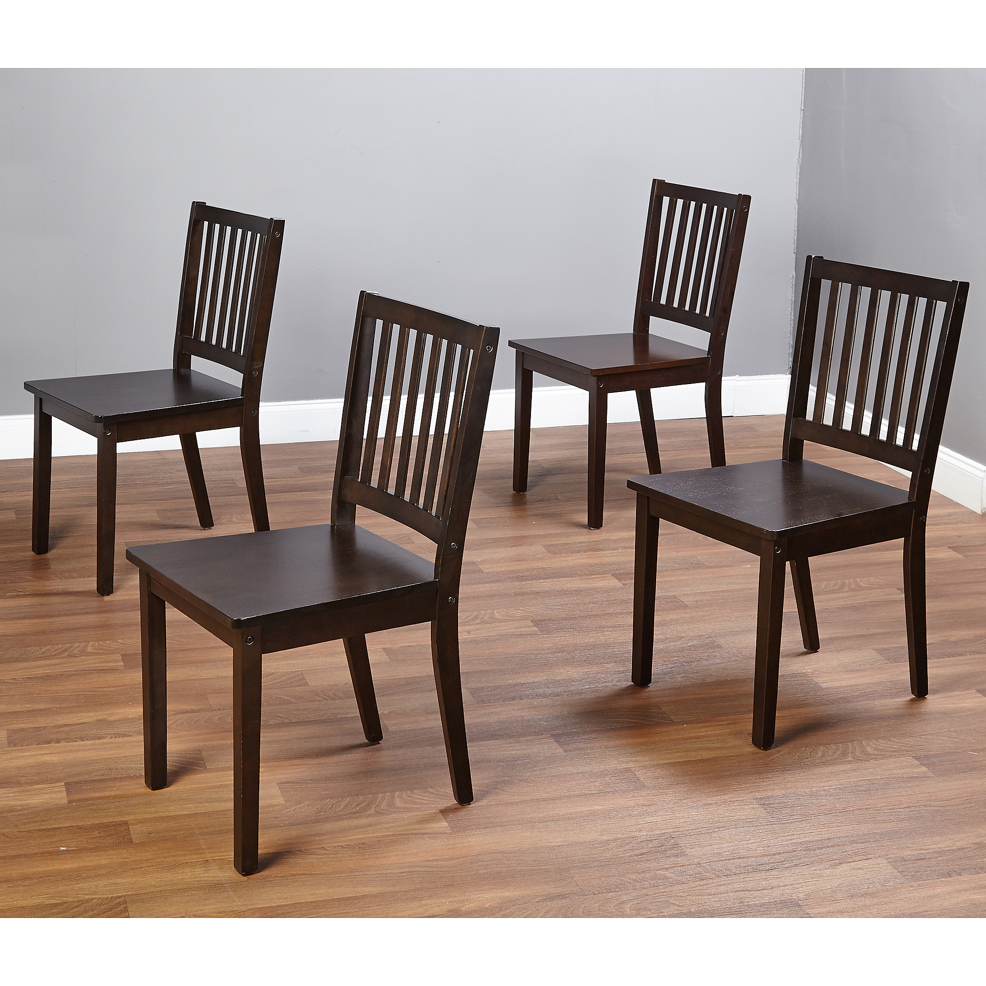 Dining room chairs Shaker dining room chairs, set of 4, espresso - walmart.com PZMBGMO