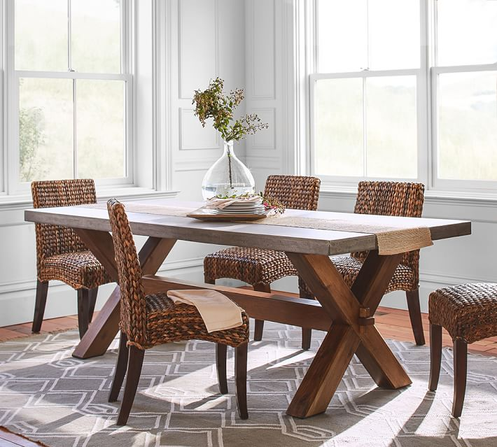 Dining table Abbott rectangular dining table |  Pottery barn HHZEJWB