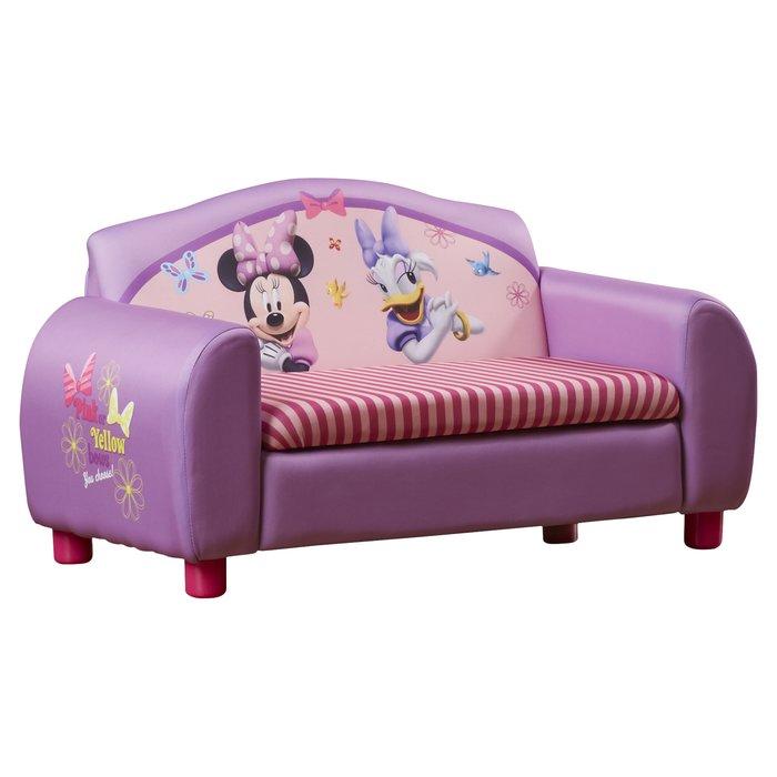 Disney Minnie Mouse children's sofa with storage compartment QOJYRUC