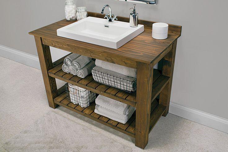 14 DIY Bathroom Vanity Plans You Are Going To Love  Unique bathroom vanity.