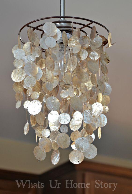 DIY chandelier DIY Capiz chandelier XQZSETX