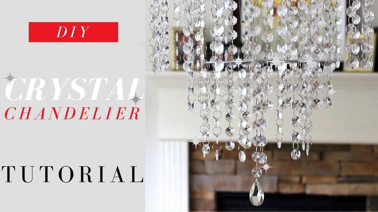 DIY chandelier DIY crystal chandelier tutorial |  Elegance for only $ 20.  MXFBOEZ