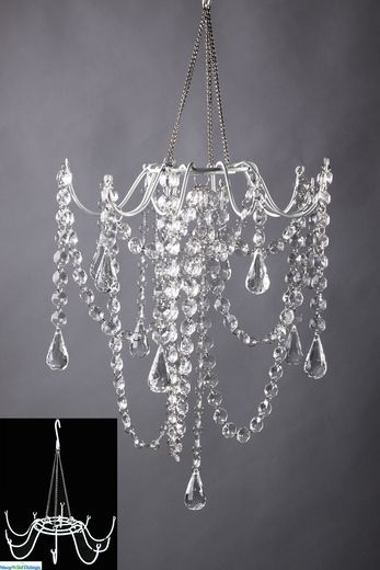 DIY chandelier {semi-diy} Spring decoration: modern beach pop WGFEVBN