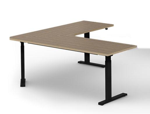 ergonomic seat-stand electric corner desk, 71 x 71, 26 d VWPMKPL